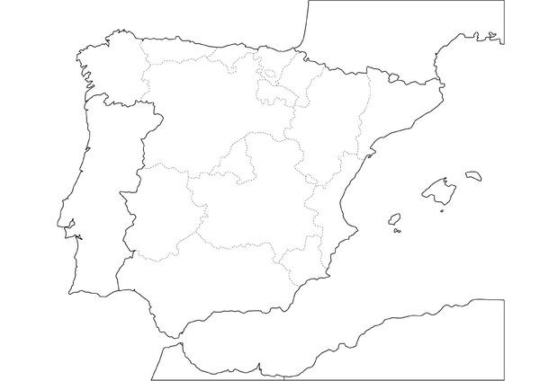 Mapa Mudo Comunidades Autonomas España Para Imprimir.Mapas Didacticos De Espana Mapasenpdf Com