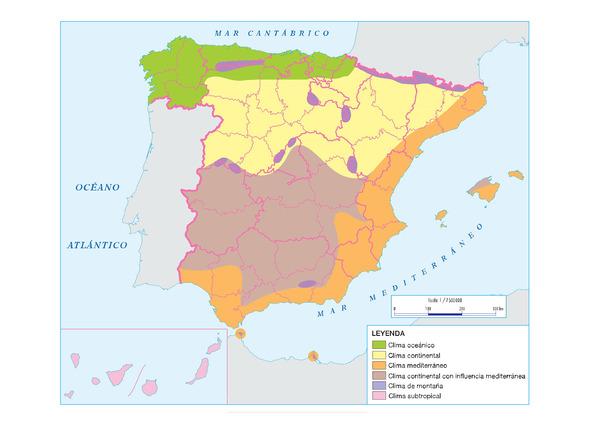 Mapa Climatico De España Mudo.Mapas Climaticos De Espana Mapasenpdf Com