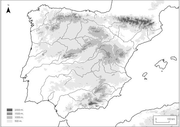 Mapa Climatico De España Mudo.Mapas Didacticos De Espana Mapasenpdf Com