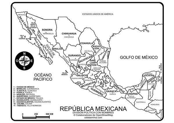 Mapas Didácticos De México Mapasenpdfcom