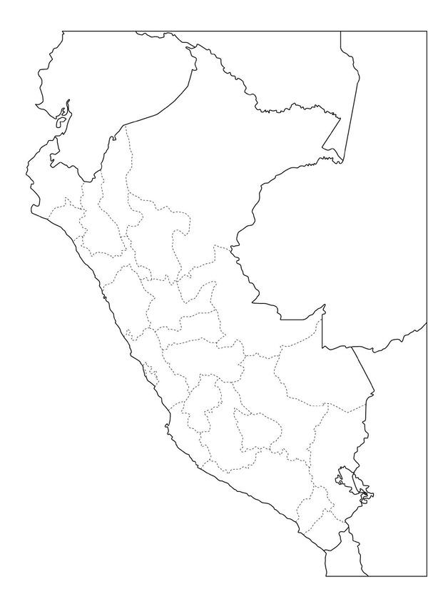 Mapa Politico En Blanco.Mapas Didacticos De Peru Mapasenpdf Com